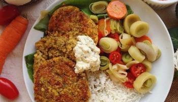 Steak vegan aux lentilles corail sans gluten et sans lactose pour un repas végétarien équilibré