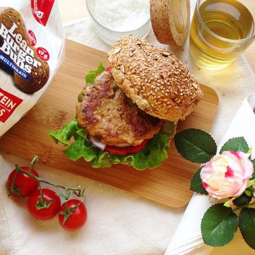 recette burger vegan avec steak de seitan maison protéiné et végétarien