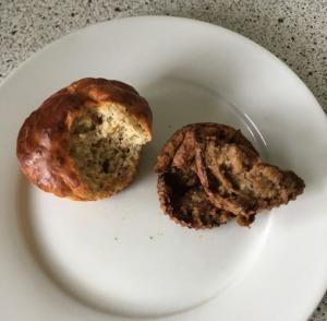muffins protéinés sans beurre, sans sucre, sans lactose, sans gluten et sans oeuf