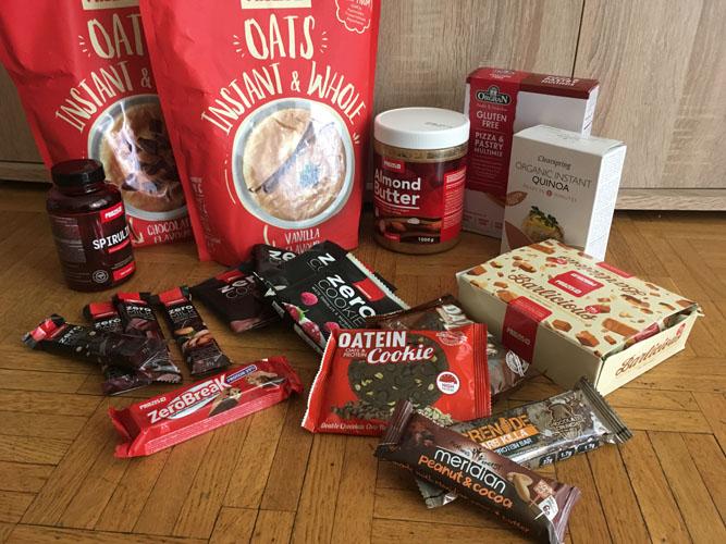 Commande prozis, avis produits prozis dont instant oats, zero cookie, zero break, almond butter