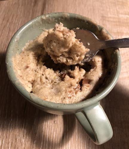 Mug cake healthy sans oeuf, sans beurre et sans sucre
