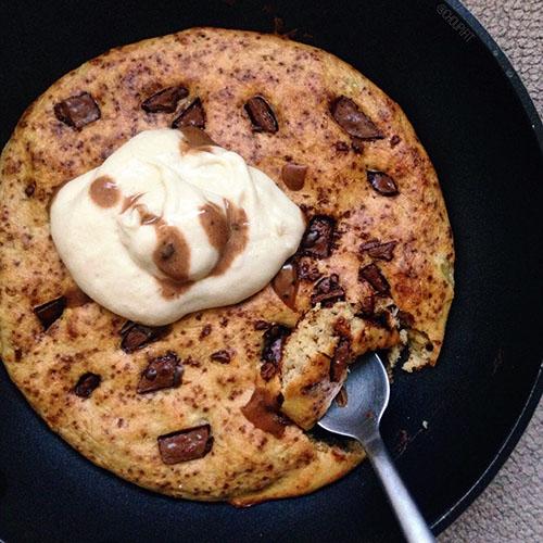 Pancake-cookie à la compote de pomme sans sucre