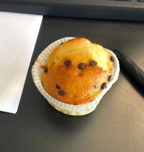 protein muffin prozis aux pépites de chocolat