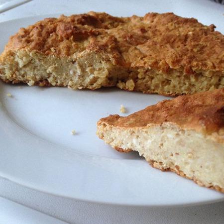 Cake healthy au fromage blanc et flocons d'avoine sans sucre et sans matière grasse