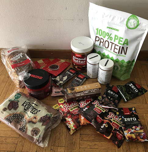 avis sur pea protein prozis, instant oats, lean bread, egg protein