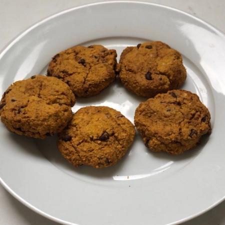 cookie vegan à la courge et pépites de chocolat healthy sans sucre