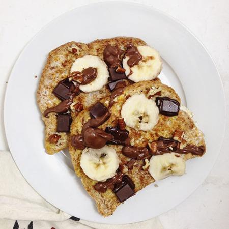 recette de pain perdu healthy au chocolat et banane sans sucre