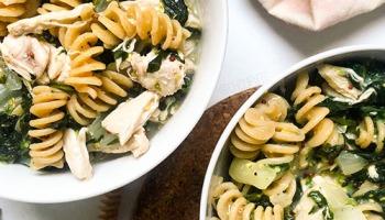 recette de repas healthy à base de poulet et sauce moutarde