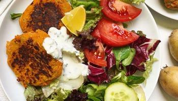 recette healthy et fitness de galette au thon et patate douce sans gluten
