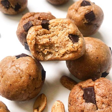 Recette vegan et healthy de cookie crue sans pois chiche sans lactose