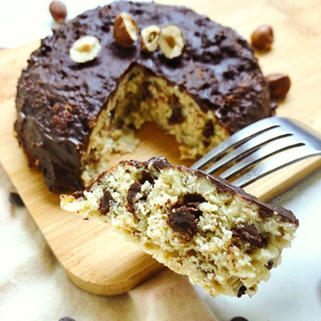 recette healthy et rapide de bowlcake protéiné sans banane sans lait à la noisette