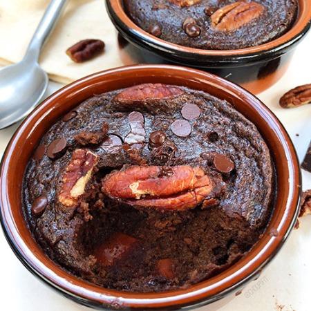 recette healthy et light de fondant au chocolat avec maizena et compote de pomme sans farine et sans beurre