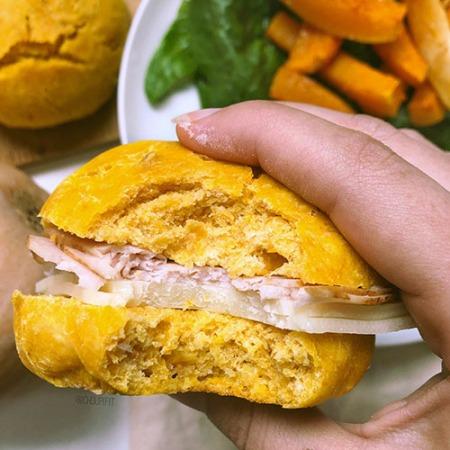 recette healthy et allégée de pain pour burger maison à la courge sans beurre et sans sucre