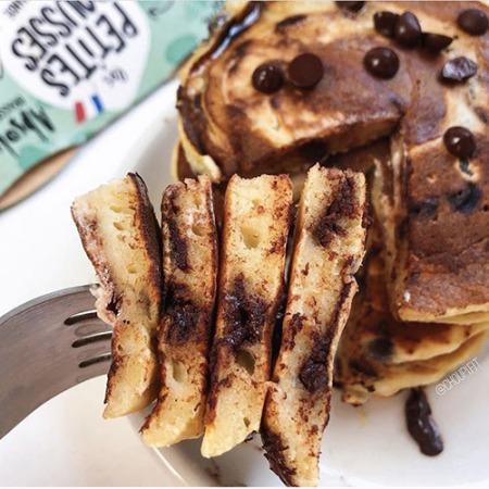 recette saine et allégée de pancakes au yaourt végétal sans lait et sans lactose